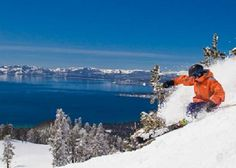 Lake Tahoe, California  - Learned to snow ski here - beautiful skiing down the mountain with a view of the lake.