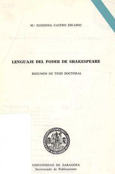 Lenguaje del poder en Shakespeare / Mª Elisenda Castro Escario