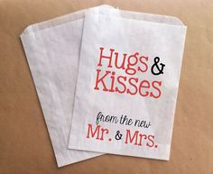Candy Buffet Bags Wedding Favor Bags Hugs and by prettypaperparlor, $25.00