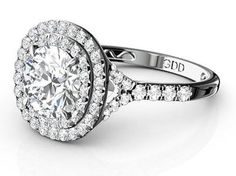 2.00 Cttw Round cut Diamonds Halo Engagement in 14K White Gold by…