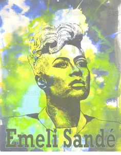 Emeli Sandé Poster by Steph Collett Emeli Sande, Cd Cover, Amazing Pictures, History Books, Adele, My Music, Over The Years, Musicians, My Arts
