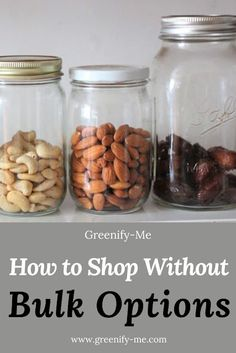 How to Shop Without Bulk Options - What happens when you don't have access to bulk bins or bulk food stores? Can you still live a zero waste life? The answer is yes! Here's how to shop without bulk options. #zerowaste #zerowasteliving #zerowastelifestyle #zerowastecollective #goingzerowaste #plasticfree