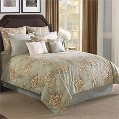 St-Lucia-9-or-10-PC-Set-Blue-Gold-Comforter-Sets - just bought on ebay.  Hope it is warm for this winter!