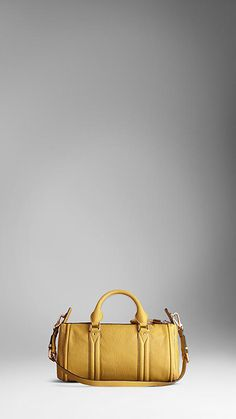 Small Grainy Leather Bowling Bag | Burberry