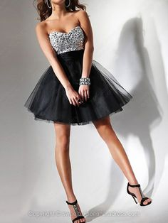 Sweetheart A-line Tulle Short/Mini Beading Sweet Sixteen Dresses #SWEET02111428