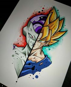 Dragon ball super e o anime mais legal do mundo Disney Drawings, Art Drawings, Ball Drawing, Goku Drawing, Anime Tattoos, Z Arts, Dragon Ball Gt, Disney Art, Chibi