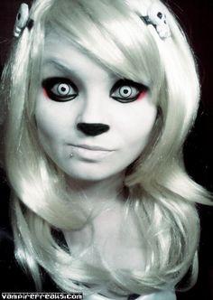Vampirefreaks Member and #Goth girl Mortemia as Lenore. Very cute!