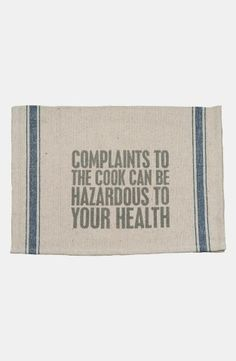 Primitives by Kathy 'Complaints to the Cook' Tea Towel #LOL #Nordstrom