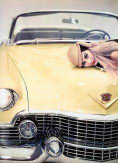 Car fashion - photo by by Erwin Blumenfeld [1954]