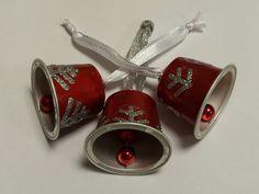 Lot de 3 clochettes en capsule de café Nespresso de couleur