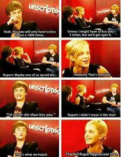 Emma, Rupert, and Daniel