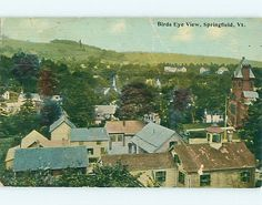 Aerial View of Town Springfield Vermont