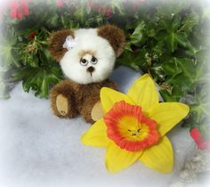 Boule ours d'artiste miniature par unoursdansmamaison sur Etsy, €37.00