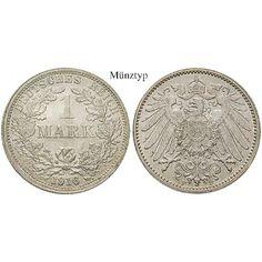 Deutsches Kaiserreich, 1 Mark 1915, E, vz+, J. 17: 1 Mark 1915 E. J. 17; vorzüglich + 16,50€ #coins
