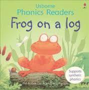 frog on a log - usborne phonics flap book