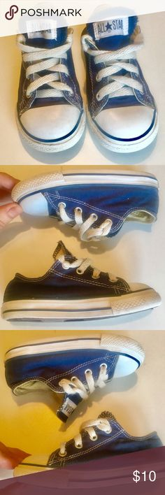 Size 8 converse Unisex size 8 kids converse. Navy blue  preowned but still look great! Converse Shoes Sneakers