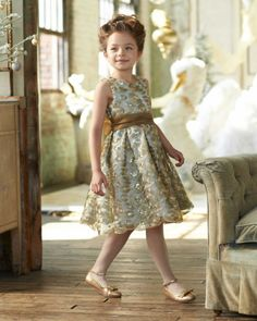 Isabel Garreton Girls Jewelbox Dress - The girl who wears this will outshine the holiday lights -- it's that gorgeous.