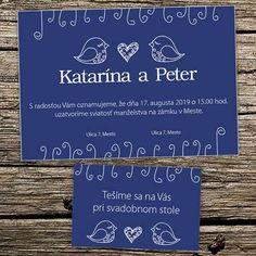svadobné oznámenie s folklórnym motívom... Social Security, Personalized Items, Cards, Wedding, Valentines Day Weddings, Maps, Weddings, Playing Cards, Marriage