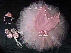 kit bailarina tutu figurino ballet roupa fantasia infantil