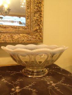 Clear glass bowl, scalloped milk edges 1900s                         – Vintage Love Antiques