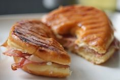 State Fair Foods to Make At Home, like Glazed Donut Sandwich with Prosciutto and Swiss and red Velvet Funnel Cakes. Eeew and yum all at the same time.