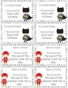 SUPERHERO CLASSROOM COUPONS - TeachersPayTeachers.com Superhero School Theme, Superhero Room, School Themes, School Ideas, Beginning Of School, New School Year, Capturing Kids Hearts, Classroom Coupons, Super Hero Day