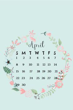 April 2018 iPhone Calendar Wallpaper