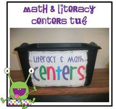 Little Minds at Work: Math & Literacy Centers Organization & Labels