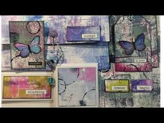 Tissue Paper & how to Journaling in Colour Tutorial #4 'Life...' Dylusions Paints - YouTube