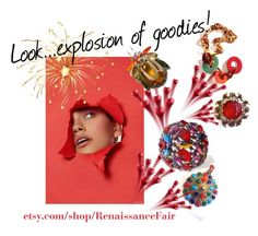 """""""Look...explosion of goodies!"""" by renaissance-fair ❤ liked on Polyvore featuring Monies"""