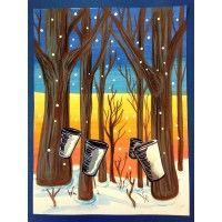 Maple Sugar Season Art Lesson for kids, Sugar Camp ! Art Lessons For Kids, Art For Kids, Gouache, Different Kinds Of Lines, Canada For Kids, Class Art Projects, Ecole Art, Camping Theme, Winter Art