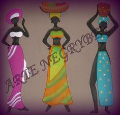 negras africanas pintadas en mdf - Google Search
