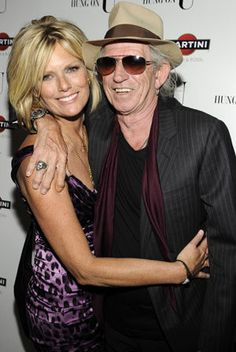 coolest couple-Keith Richards and Patti Hansen