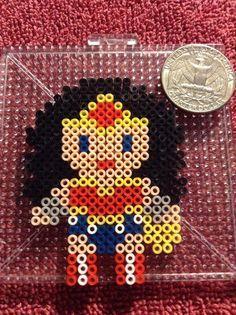 Wonder Woman perler beads by KibbesNBits