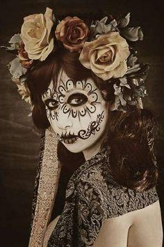 Calavera Women/'s Flip-Flops Green Lime Rose Day Of The Dead  Dia De Los Muertos Halloween Skull Design #2