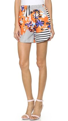 Clover Canyon Floral Discs Shorts - love the details in these shorts..