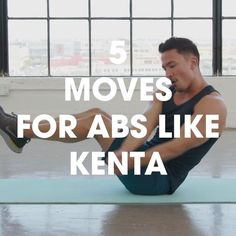 5 Moves For Abs Like Kenta - Ab Workout & Fitness Gym Workout Videos, Abs Workout Routines, Workout Classes, Gym Workouts, At Home Workouts, Muscle Building Workout Plan, Fitness Studio Training, Ab Training, Strength Training