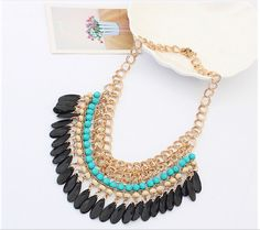 *2015 Christmas gift Tassels Drop Vintage Bib statement necklace Fashion Jewelry free shipping-in Chain Necklaces from Jewelry on Aliexpress.com | Alibaba Group