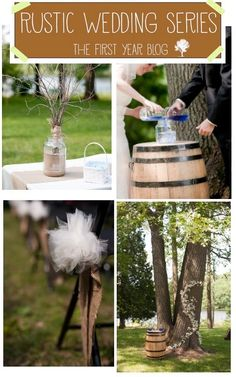 Rustic Wedding Decor #Wedding
