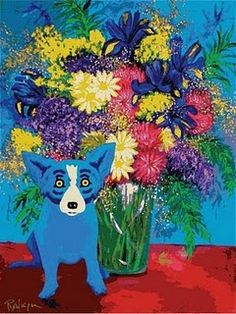 Blue Dog by George Rodrigue... I have a thing for that pup!