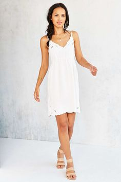 Staring At Stars Applique Babydoll Slip Dress | Urban Outfitters | $ 79
