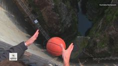 Physics in action is amazing sometimes. A trick basketball team shows us how they made a basketball fly in the breeze. Meteorologist Alex Wilson has the details.