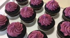 """Try this recipe for """"Black Raspberry Velvet Cupcakes""""! The result is a moist, dense cake with delicious flavor and no food coloring. Can use fresh or frozen berries!   Black Velvet Cupcakes"""