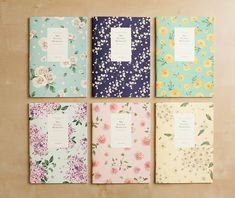 Ruled Notebook [floral pattern] / Flower Ruled Notebook / Blossom Notebook / 101002677 on Etsy, 5,15 €