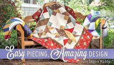 Easily create classic quilts beaming with eye-pleasing intricacy. Use straight-line stitching to create professional-looking diamond patchwork with no Y-seams or bias edges!