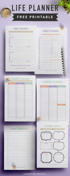 Download this printable life planner to help you get organized