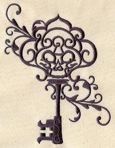 Skeleton Key Designs   ... skeleton key design. Look carefully and you'll see a skull inside