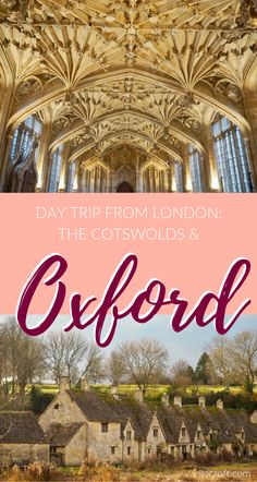 A Day Trip to Oxford and the Cotswolds with Rabbie's Tours - Elle Croft London Tours, London Travel, Highgate Cemetery, Day Trips From London, Europe Travel Tips, Travel Uk, Travel Guides, Travel Destinations, England And Scotland