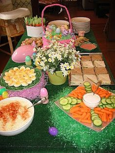 Easter Party...really cute decorating ideas