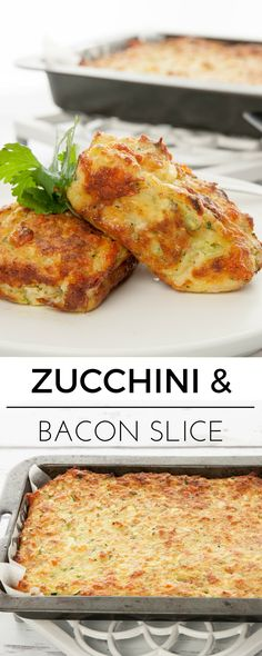 Deliciously Cheesy Zucchini & Bacon Slice is perfect for a quick weeknight meal with salad & take it as a packed lunch to work the next day. Use a food processor or Thermomix to grate the zucchini and its in the oven in under 10 minutes.